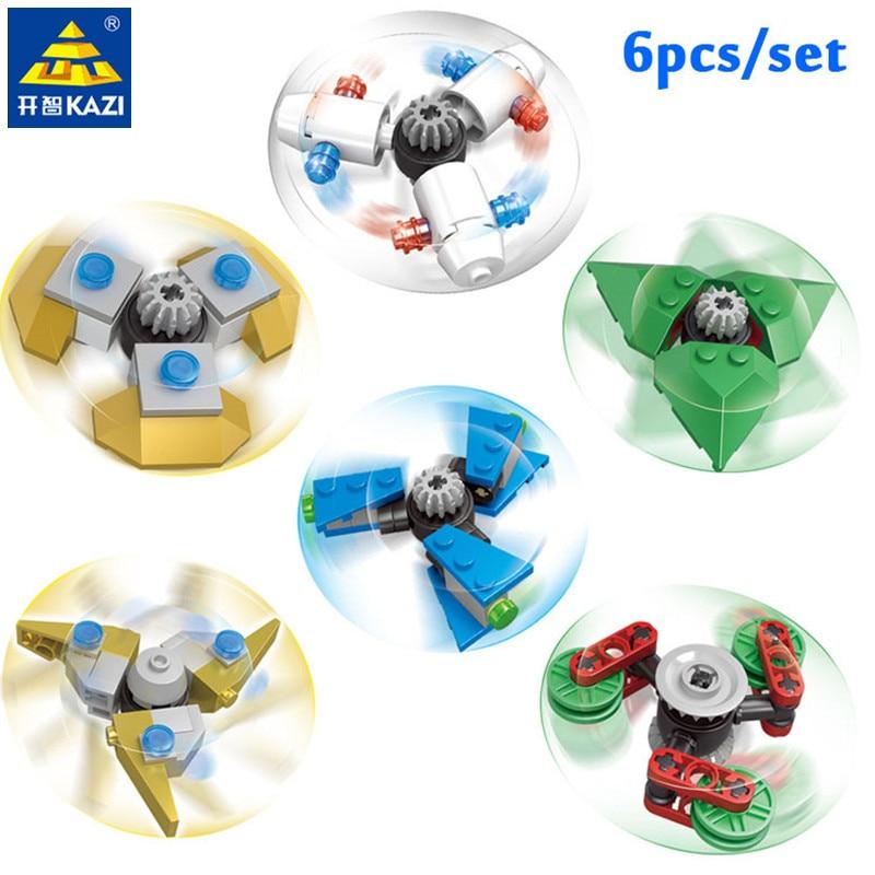 6Pcs/Set DIY Fidget Spinner Buildable Spiner Plastic Hand Toy Rotating Beblade For Kids Adult Anti Stress DIY Toys For Children