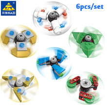6Pcs/Set DIY Fidget Spinner Buildable Spiner Plastic Hand Toy Rotating Beblade For Kids Adult Anti Stress DIY Toys for Children(China)