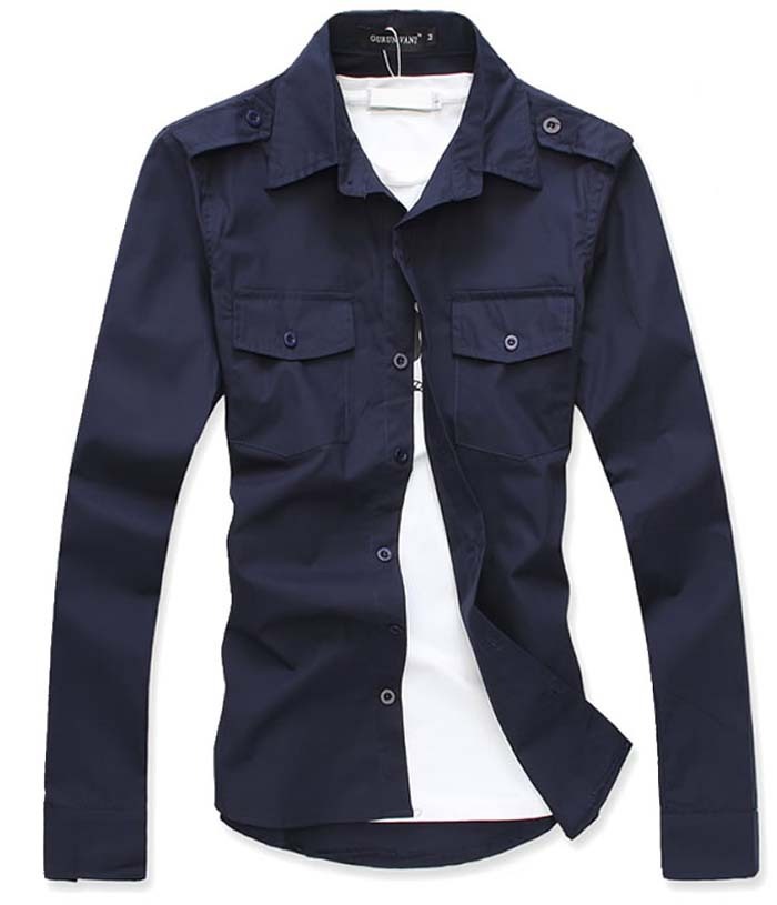 Solid 14 Color Black Blue Red Navy Men Shirt New Xxl 3xl