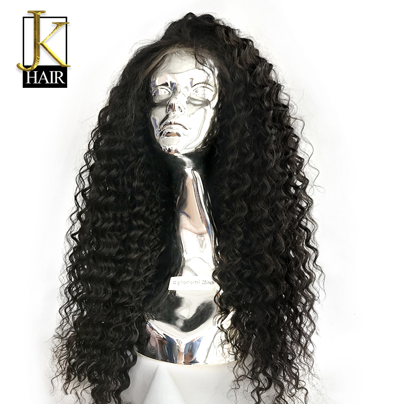Curly Wig 250 Density Lace Front Human Hair Wigs Natural Black For Women Remy Brazilian Lace Wig Pre Plucked JK Elegant Queen
