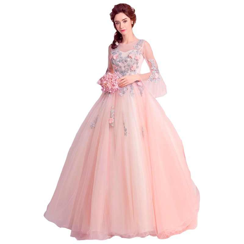 ruthshen Ball Gown Quinceanera Dresses With Flowerd Appliques Beads Debutante  Teens Sweet 16 Masquerade Prom Gowns 6ebadf79789d