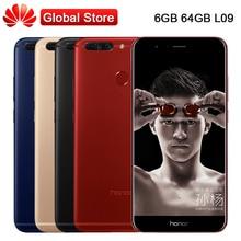 "Глобальный Huawei Honor V9 L09 6 г Оперативная память 64 г Встроенная память 5.7 ""KIRIN 960 Octa Core Dual сзади 12.0MP quick charge 4000 мАч OTG NFC мобильный телефон"