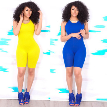 Hot Basic Women Bodysuits Cotton Women Rompers One Pieces Bodycon Jumpsuits Overalls Skinny Jumpsuit Шорты