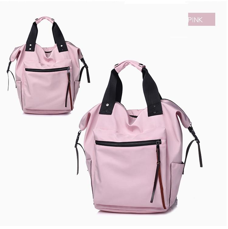 HTB1hhhqasfrK1Rjy1Xdq6yemFXaQ Fashion Nylon Waterproof Backpack Women Large Capacity Schoolbags Casual Solid Color Travel Laptop Backpack Teen Girls Bookbags