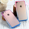 KISSCASE For iPhone 7 7 Plus Colorful Gradient Clear TPU Case For iPhone 7 7 Plus Ultra Slim Rubber Silicon Protective Back Capa