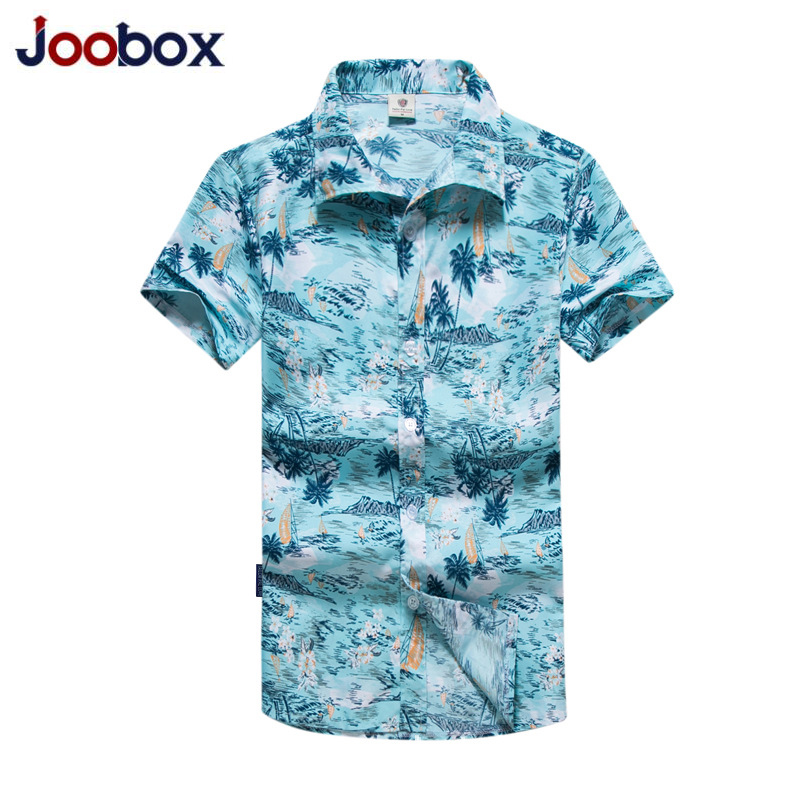 833b370a Luxury2019 Men Shirt Summer Style Palm Tree Print Beach Hawaiian Shirt Men  Casual Short Sleeve Hawaii Shirt camisa masculina 5XL