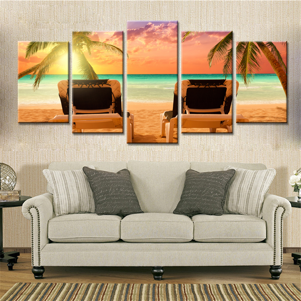 Drop Shipping 5 Pieces Canvas Painting Wall Art Autumn