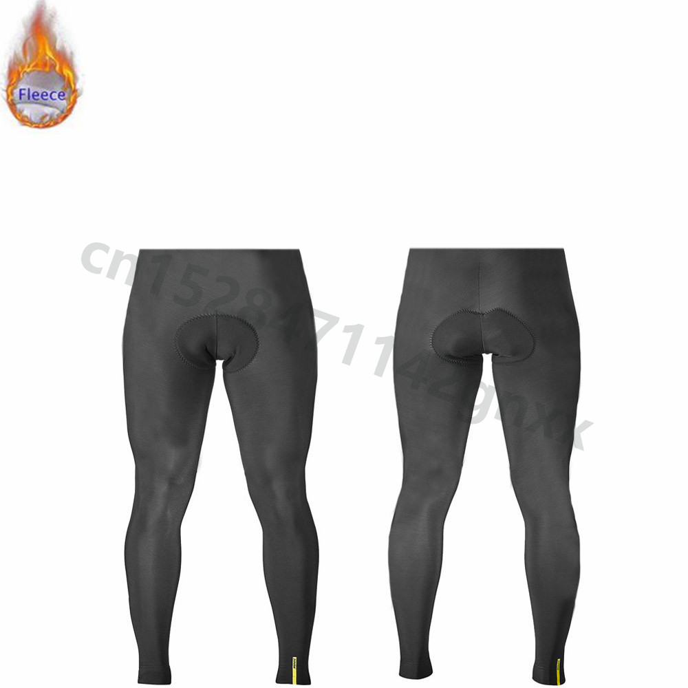 MAVIC Pro Men Cycling Long bib Pants 9D Gel Padded Pad Thermal Fleece Road Bike Tights Long Pants Winter Outdoor Sports Trousers in Cycling Pants from Sports Entertainment