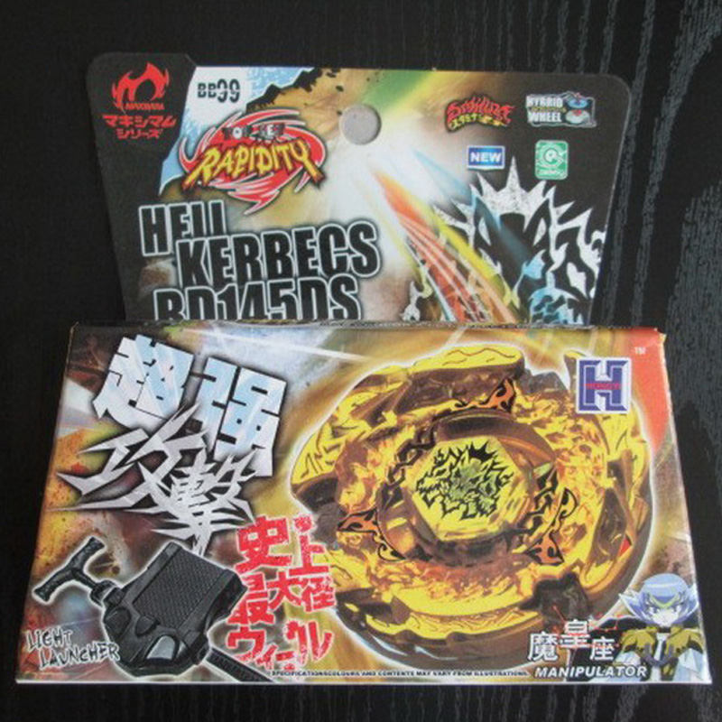 цены Beyblade Metal Fusion 4D Set BEYBLADE METAL FUSION GOLD HELL HADES KERBECS BD145DS+LauncherKids Toys BB99 Lct_031