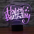 Fashion Table Lamp Birthday Gift Decoration with 3D Effect LED Night Light Holiday Light Fun Light for Baby Kids Children