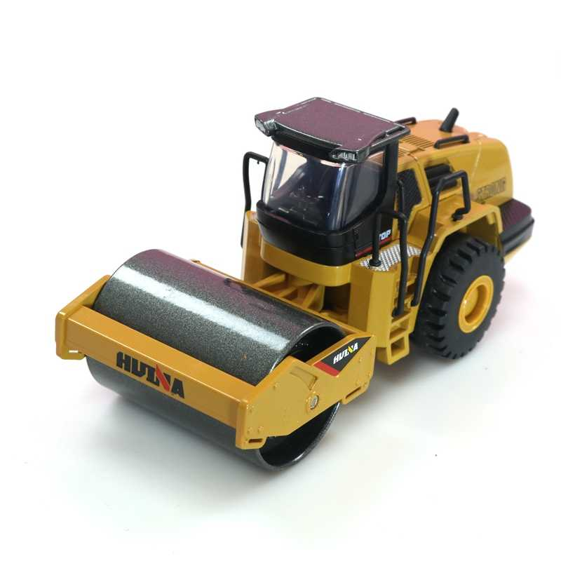 HUI NA 7715 1:50 Diecast Metal Road Roller Model Construction Toy Vehicle Toys for Boys Birthday Gift For Car Collection