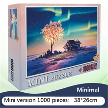 Mini 1000 pieces of the smallest 3D puzzle difficult wood pulp paper puzzle for adults cute цена и фото