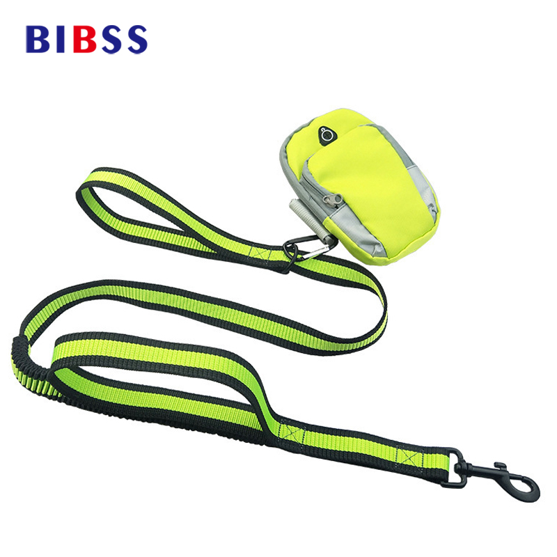 Nylon Retractable Dog Leashes With Arm Bag Hand Free Adjustable Elastic Lead Release Tactical Training Running Leash For Dogs