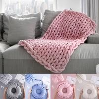 Hand Knitting Knit Blanket DIY Bulky Arm Roving Spin Yarn 1000g Super Thick Chunky Yarn Natural Wool