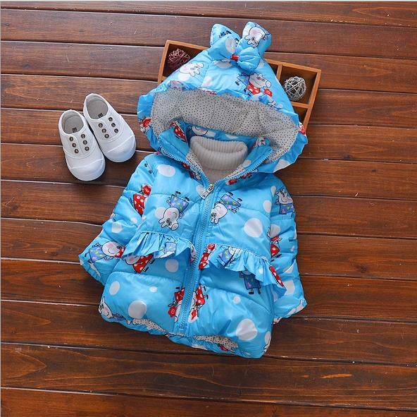Coat Baby Winter Snow-Wear Infant 0-24month AS009 Pig Girl's High-Quality Cheapest Cute