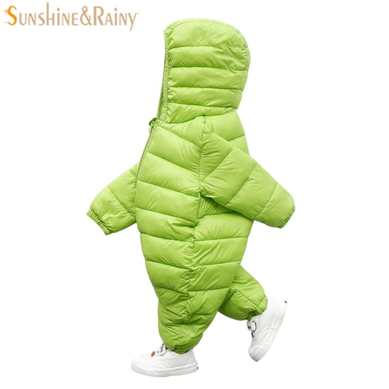 Children Winter Jumpsuit Bebe Boy Girl Romper Down Cotton Boys Snowsuit High Quality Newborn Baby Rompers Children Outerwear