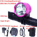 2000 Lumens CREE XM-L T6 LED Bicycle bike Light Headlamp HeadLight Head Lamp Light With 6400mAh battery Pack & Charger