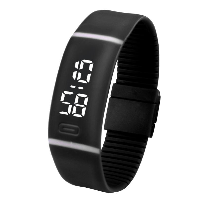 Fashion LED Digital Watch for womens Mens Rubber Date Sports Bracelet Wrist Watch man watches smart Female Womens watches 30P delicate hot new mens womens rubber led watch date sports bracelet digital wrist watch drop shipping j18w30 hy free shipping