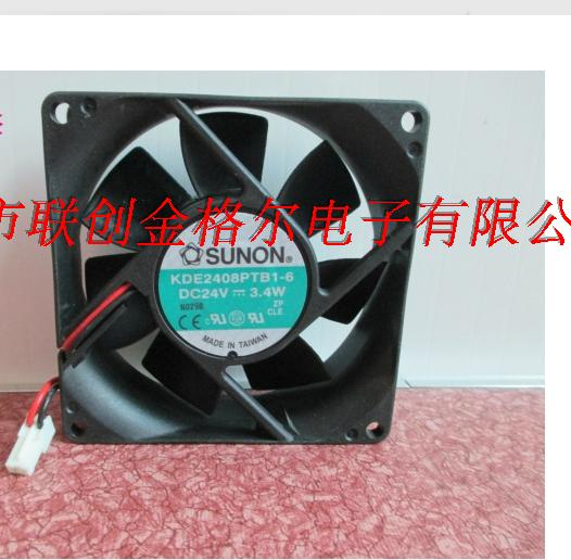 New SUNON FAN  #  KDE2408PTB3-6 DC24V  2.4W   80 mm X 80 mm  X 25 mm
