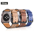 Istrap alta calidad 42mm genuino del becerro reemplazo reloj de cuero correa para apple watch pulsera de iwatch apple watch band 42mm
