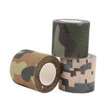 5M Self-adhesive Army Non Woven Cohesive Bandage Non-woven Camouflage Camping Hunting Stealth Tape
