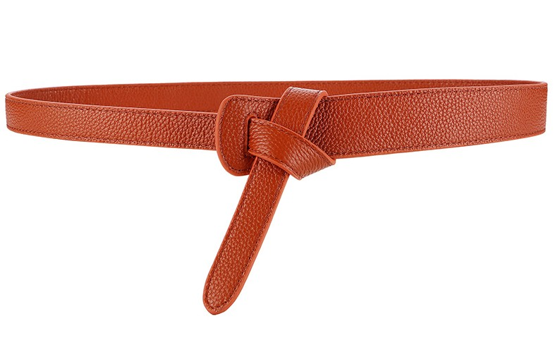 HTB1hhjbrVkoBKNjSZFkq6z4tFXaT - Luxury Female Belt for Women red Bow design Thin PU Leather Jeans Girdles Loop strap belts bownot brown dress coat accessories