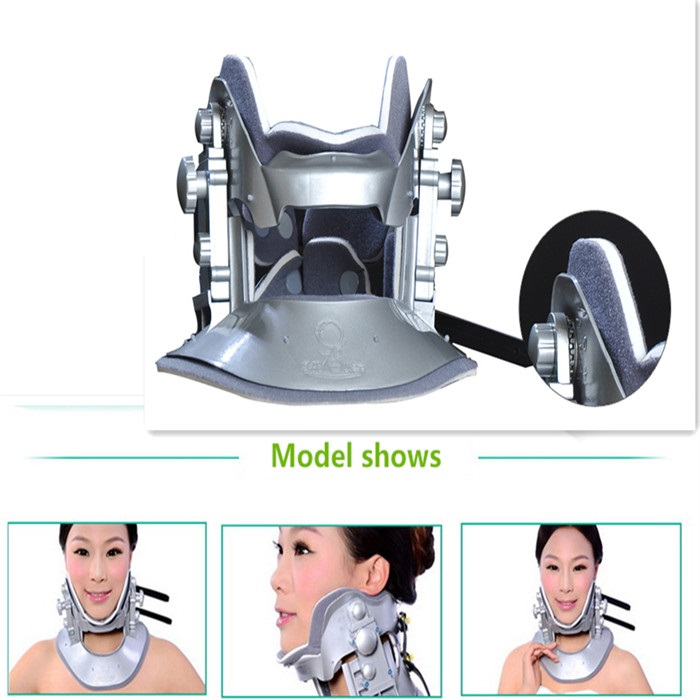 Schubert cervical traction device household Cervical Collar Neck brace cervical Traction Therapy Device for Neck Pain release neck cervical traction collar device brace support hard plastic for headache neck pain hight adjustable one size fit most
