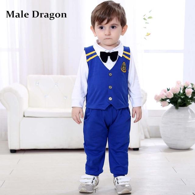 little gentleman baby boy wedding suit formal suit boys bule color ...