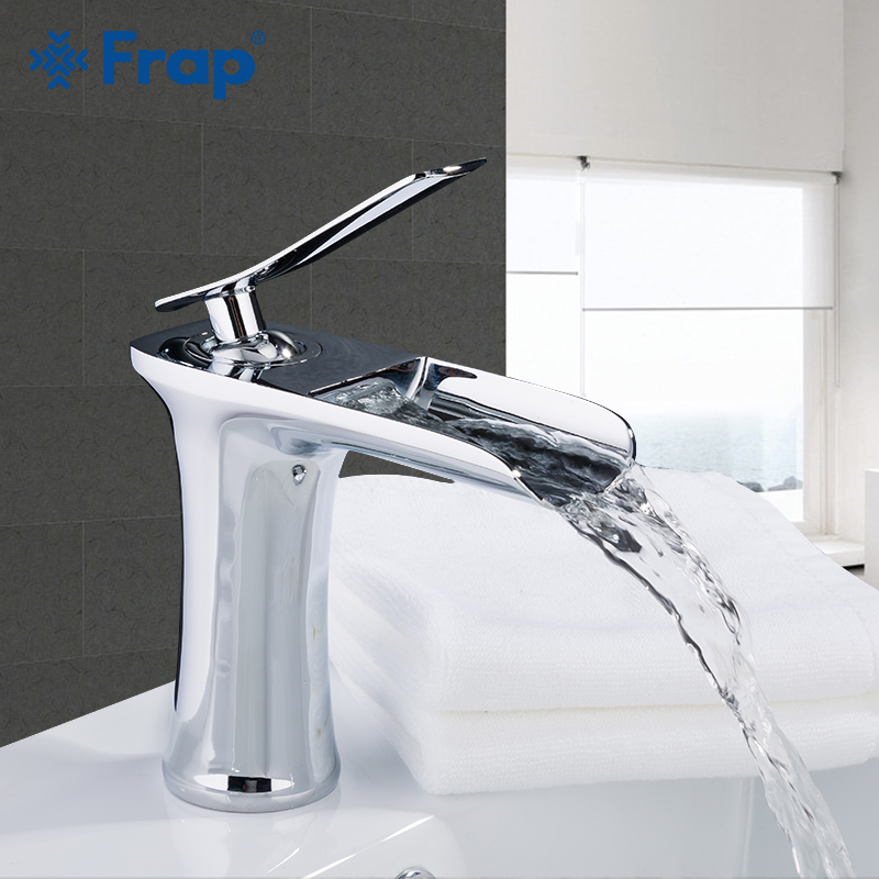 FRAP Basin Faucets brass waterfall basin plating mixer for bathroom basin faucet taps sink faucet basin