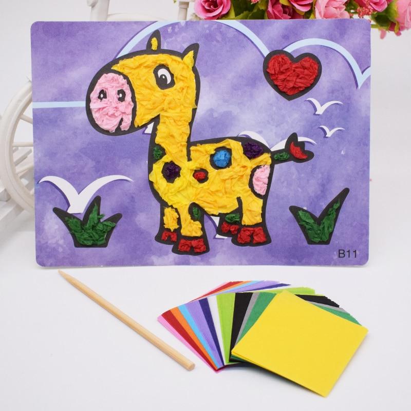 DIY Crafts Toys For Children Felt Paper Material Handicraft Kids Kindergarten Diy Giraffe For Girl Boy Handwork Arts Wholesale