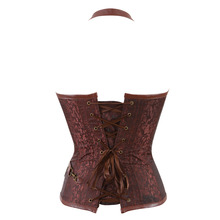 Steampunk Corset Faux Leather Burlesque Clubwear