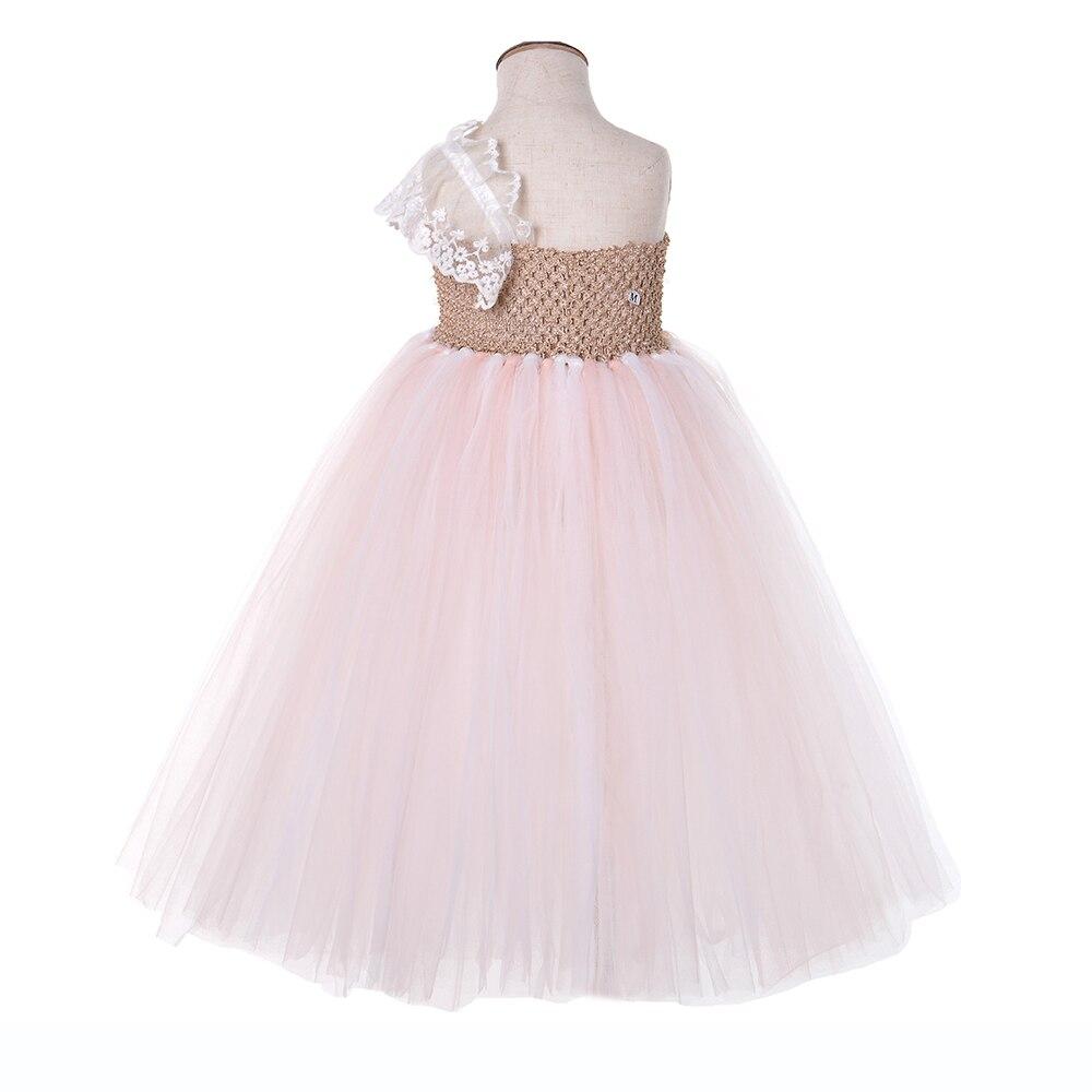 Lilacs Toddler Girl Christmas Tutu Dress Girls Frock Children Nova Ankle Length Lace One Shoulder Dress Kids Costume Princess 8T (11)