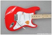 Лучшая цена новая гитара F Stratocaster ST 6 струн электрогитара четыре цвета для выбора (sunburst, черный. белый. красный) Бесплатная доставка