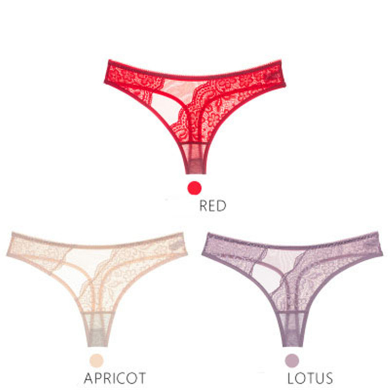New Embroidery Sexy Girl Panties Lingerie Transparent Seamless Lace Girl G String Kids Thongs Pants For Young Girl Underwear