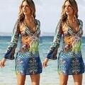 Женщины Sexy Шифон Бикини Cover Up Пляж Платье Купальники Шарф Парео Саронг Обертывание