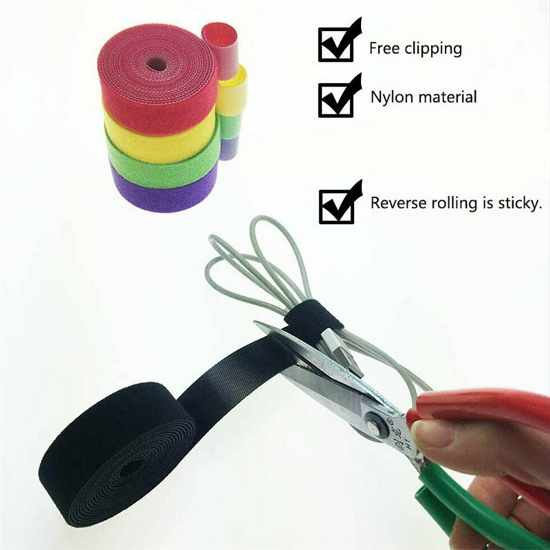 1PCS Magic Tape the hooks adhesive nylon sticker hook and loop Velcro fastener without Glue for sew Ties Curtain Fastener 50