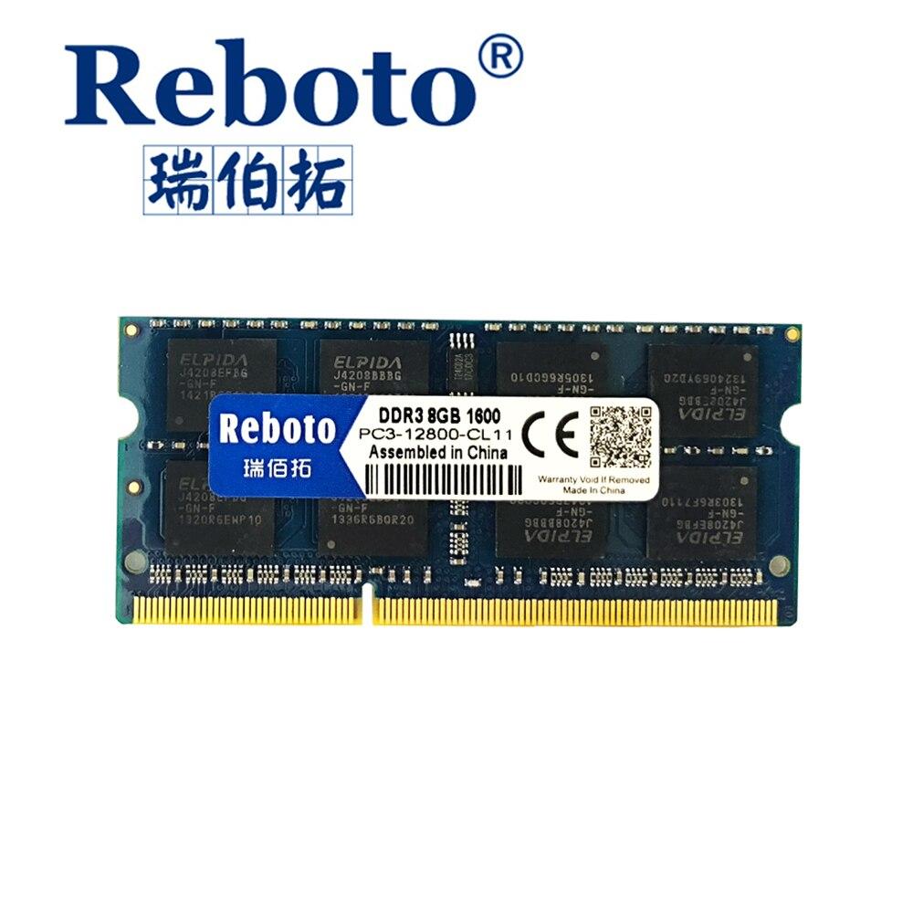 Reboto DDR3 2 GB 4 GB 8 GB 1066 mhz 1333 Mhz 1600 mhz Memoria RAM Del Computer Portatile/garanzia a vita spedizione Gratuita