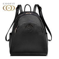 Coofit Brand Designer Elegant Women S Backpack Chic Solid PU Leather Bagpack For Girls Teenager Casual
