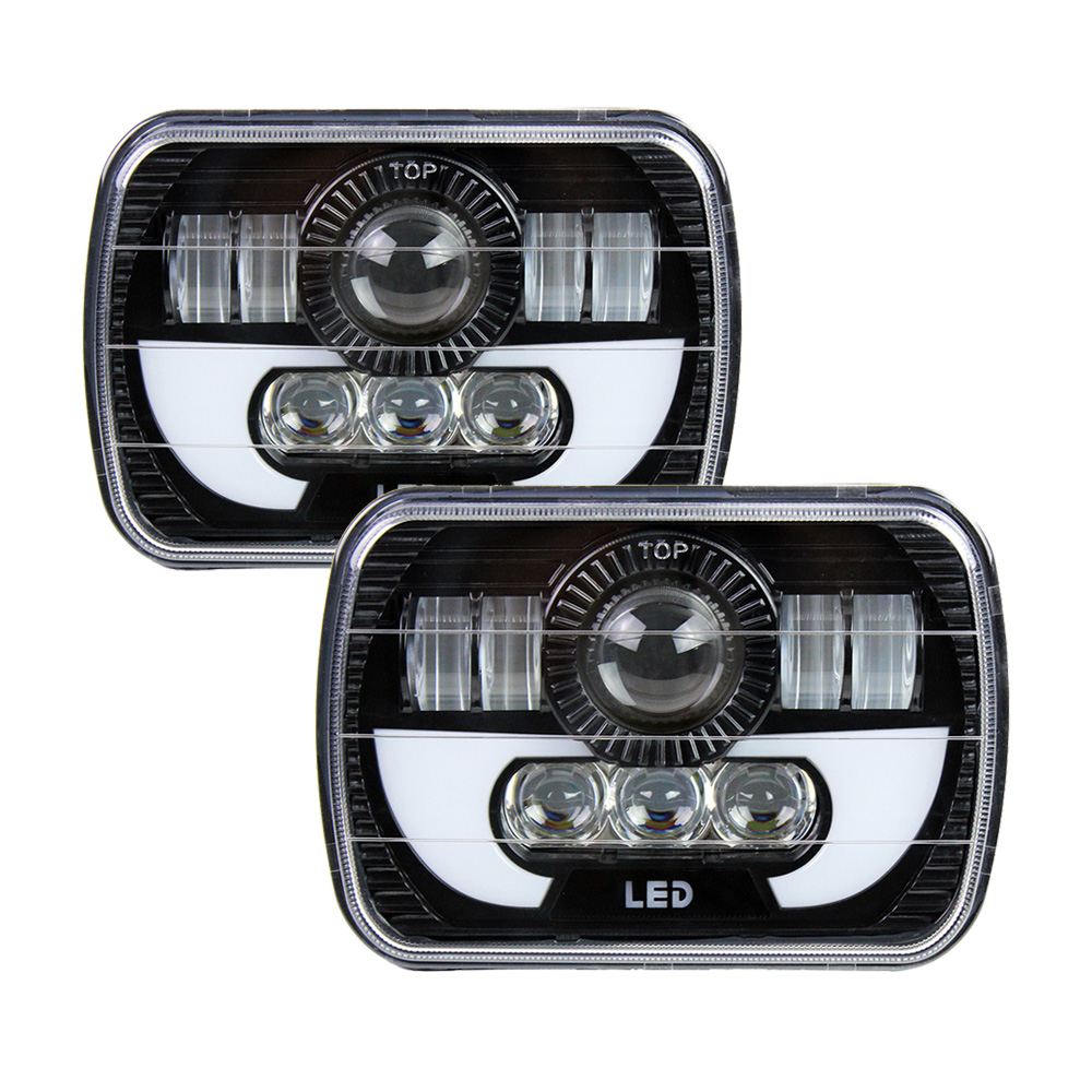 5 X 7 7X6 90w Square Truck LED Headlight Driving Lamps with Hi/Lo DRL For Jeep Wrangler YJ Cherokee XJ Comanche MJ Trucks жирное масло 100