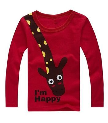 Long Sleeve Children T Shirts Cute Animal Cartoon Boys T-Shirts Cute Casual Boy Tees Spring Autumn Children Kids Clothes