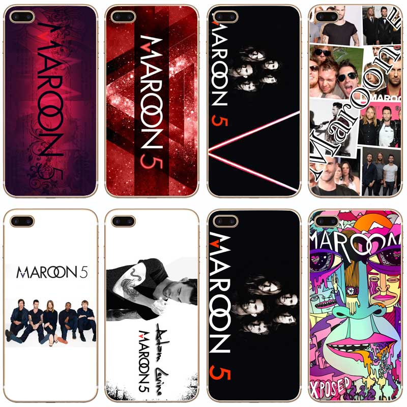 H130 Maroon 5 Transparent Hard Thin Case Cover For Apple iPhone 4 4S 5 5S SE 5C 6 6S 7 8 X Plus