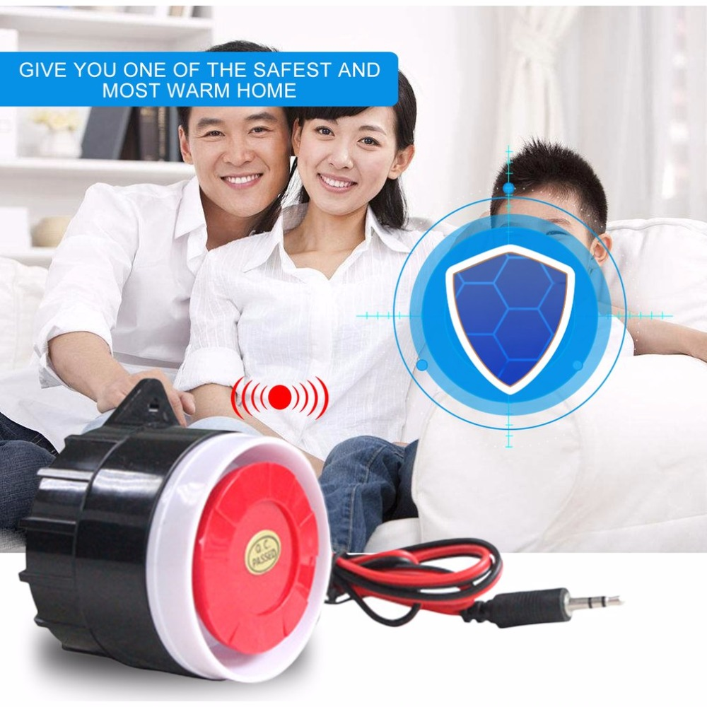 Mini Wired Siren Portable Alarm Horn For Home Office Living Room Bedroom Alarm Security System Indoor Sound Alarm Device