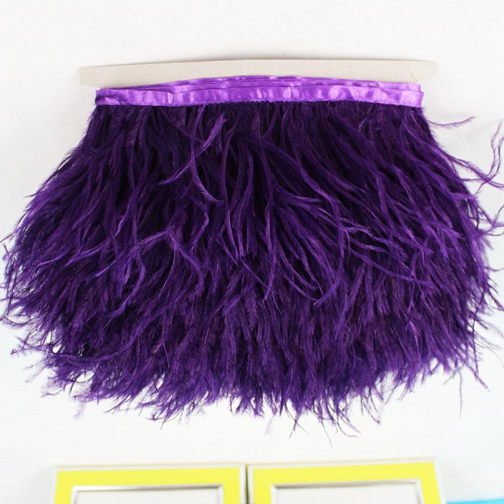 Yellow ostrich feather trim dress