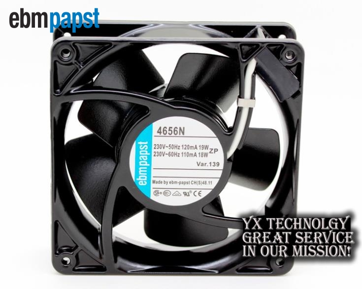ebm papst New all-metal TYP-4656N 120*120*38mm 220V dual ball bearing cooling fan ebm papst 12cm 12038 4656zwh 230v 19w cooling fan 120 120 38mm 5wire