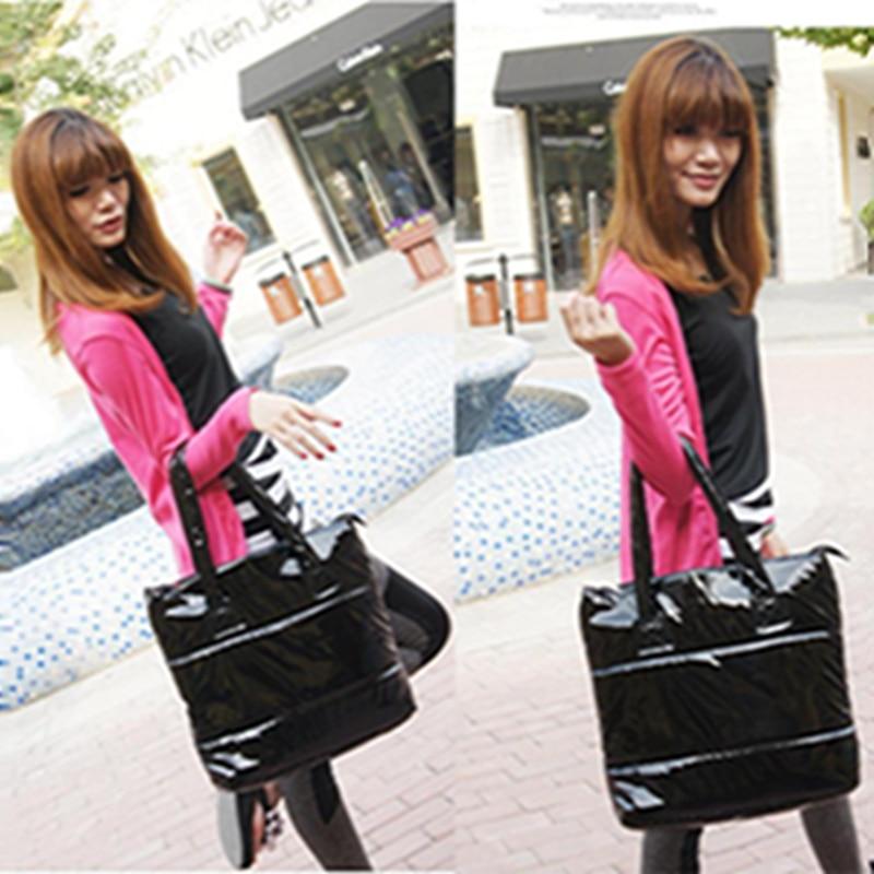 bolsa feminina grande bolsala Women Bag Handbag : Black Women's Leather Handbag