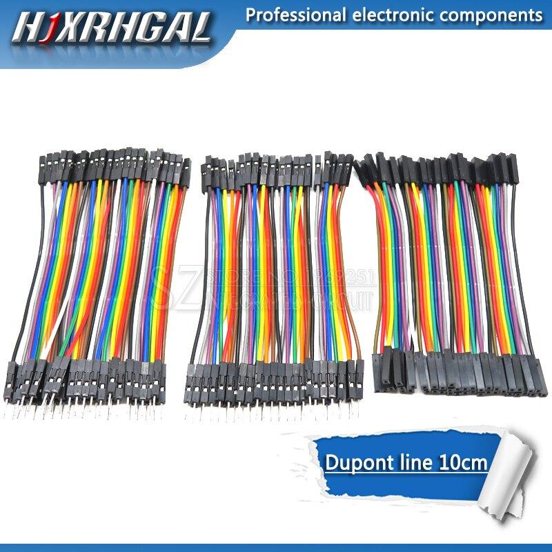Dupont line 120 шт. 10 см мужской + мужской женский и Женский Соединительный провод Dupont кабель для Arduino diy kit hjxrhgal