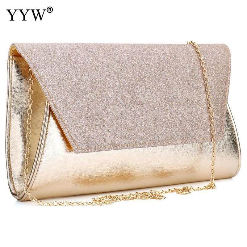 Роскошные Для женщин Сумки Дизайнер Золотой Вечеринка сумка для женский клатч женские PU кожаная сумка известного бренда сумка