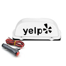 цены на fit for car Top Light Yelp White 12V LED Roof yelp Sign light with 3Meter cigarette lighter power charger line and Magnet base  в интернет-магазинах