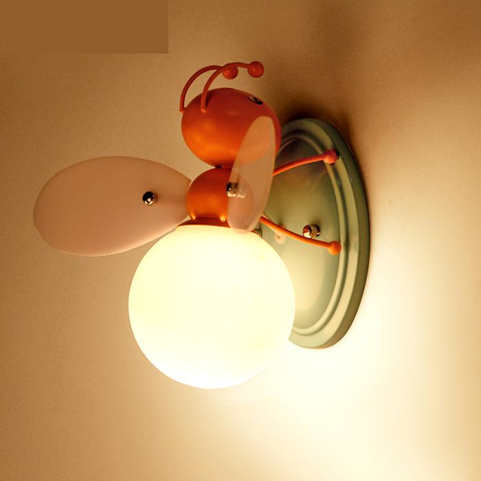 Kid's Led Cartoon Light novelty colored Bee Led Children's Wall light for Children Room Boys And Girls Bedside Lamp Luminaire