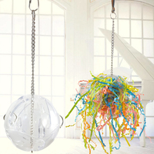 1Pcs Parrot Bird toy Ball String Colorful Brushed Chewing Hanging Cage Parakeet Hammock Swing toys Accessories